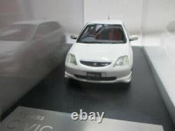 1/43 Haut Histoire Honda Civic Type R 2001 Blanc De Imprimé