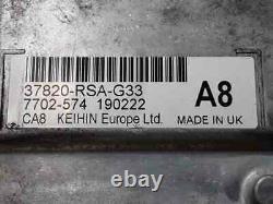 37820rsag33 boîtier moteur uce honda civic berlina (fn) 1.8 type s 2007 4215459