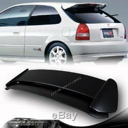 ABS Noir Type-R Style Aileron Arrière Aile W / LED pour 96-00 Honda Civic