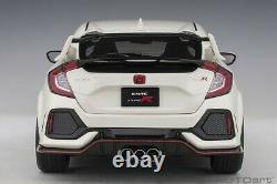 AUTOart Honda Civic Type R (FK8) Championnat Blanc Composite 1/18 Échelle Neuf
