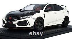 Allumage Modèle 1/18 Honda Civic FK8 Type R Blanc Mini Voiture IG1447 Fini