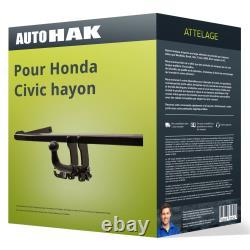 Attelage pour Honda Civic hayon VII type EU/EP démontable sans outil Auto Hak