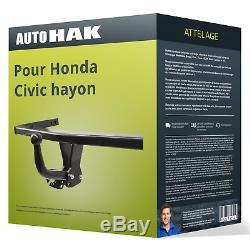 Attelage pour Honda Civic hayon VIII type FK/FN démontable avec outil Auto Hak