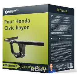Attelage pour Honda Civic hayon VIII type FK/FN démontable avec outil Westfalia