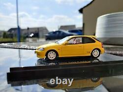 Honda Civic Ek9 Type R yellow Ebbro 1/43