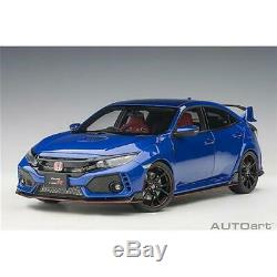 Honda Civic Type-R (Fk8) 2017 Blue Met AUTOART 118 AA73269 Miniature
