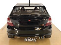 Honda Civic Type R ep3 Noir 118 Modèle Résine Édition Limitée DNA