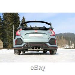 Honda Civic X Type R 2.0l 235kW Silencieux Sport 70mm Sortie Centré De Fox