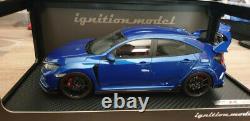Ignition Model Honda Civic FK8 Type R Bleu 1/18 avec boite + sur boite complète