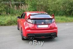 Inox le Sport Échappement Duplex Honda Civic 9 FK2 Type-R Chaque 2x90mm Rond