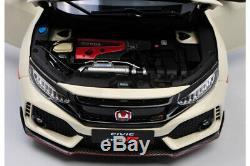 LCD Models 1/18 Modèle Auto Honda Civic Type-R FK8 Blanc Diecast Modélisme