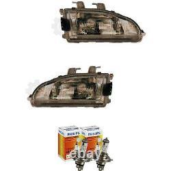 Phare Halogène Kit pour Honda Civic 10.91-10.95 H4 sans Moteur Incl. Lampes