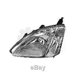 Phare avant Set Pour Honda Civic Année Fab. 03/01-10/03 Incl. Moteur H4+H1+