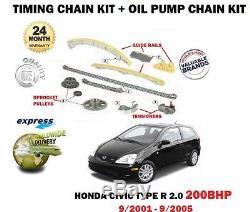 Pour Honda Civic Type R 2.0 200BHP 2001-2005 Chaîne de Distribution Kit + D