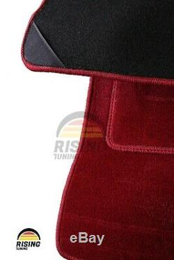 Sol Tapis Rouge Moquette Type-R pour Honda Civic Eg Ek Ej 92-00 LHD 4pcs Set R