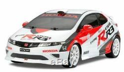 Tamiya Peint Rechange Corps Honda Civic Type-R R3 J. A. S. Sport TT-01 Type-E