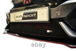 Zunsport Noir avant Inférieur Grille Pour Honda Civic Type R FK8 ZHN76718B